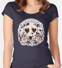 Camiseta entallada de cuello redondo perro dálmata