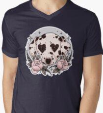 Camiseta para hombre de cuello en v perro dálmata