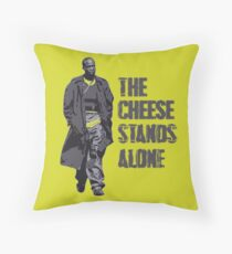 Omar Little - The Cheese Stands Alone Throw Pillow