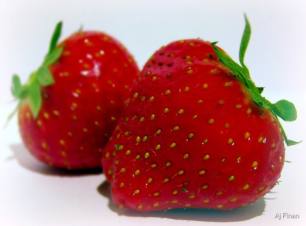 A Sweet Strawberry Duo. by Aj Finan