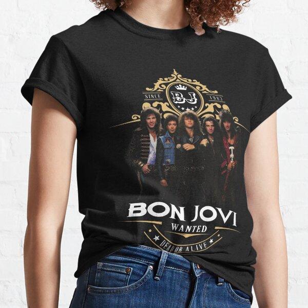 Bon Jovi (fuente blanca) Camiseta clásica
