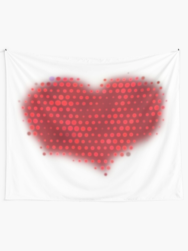 Alternate view of Glowing Red Heart Tapestry