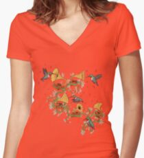 Phono & Fauna Women's Fitted V-Neck T-Shirt