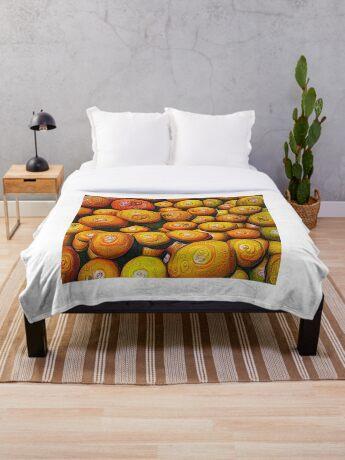 #DeepDream Fruits 5x5K v1454417933 Throw Blanket