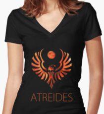 Atreides of Dune - Bronze Women's Fitted V-Neck T-Shirt