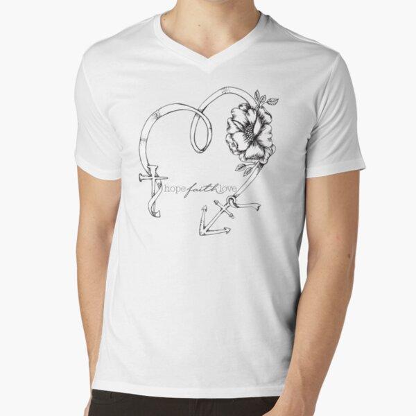 Hope Faith Love V-Neck T-Shirt
