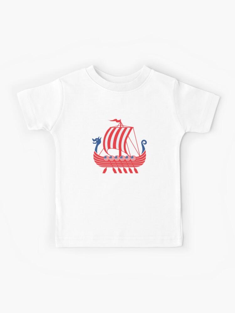 Nordic Viking Blood Valhalla Usa Odin Viking Ship Kids T Shirt By Dswshirts Redbubble