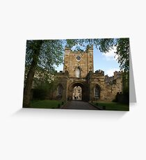 entrance gate to Durham University Greeting Card