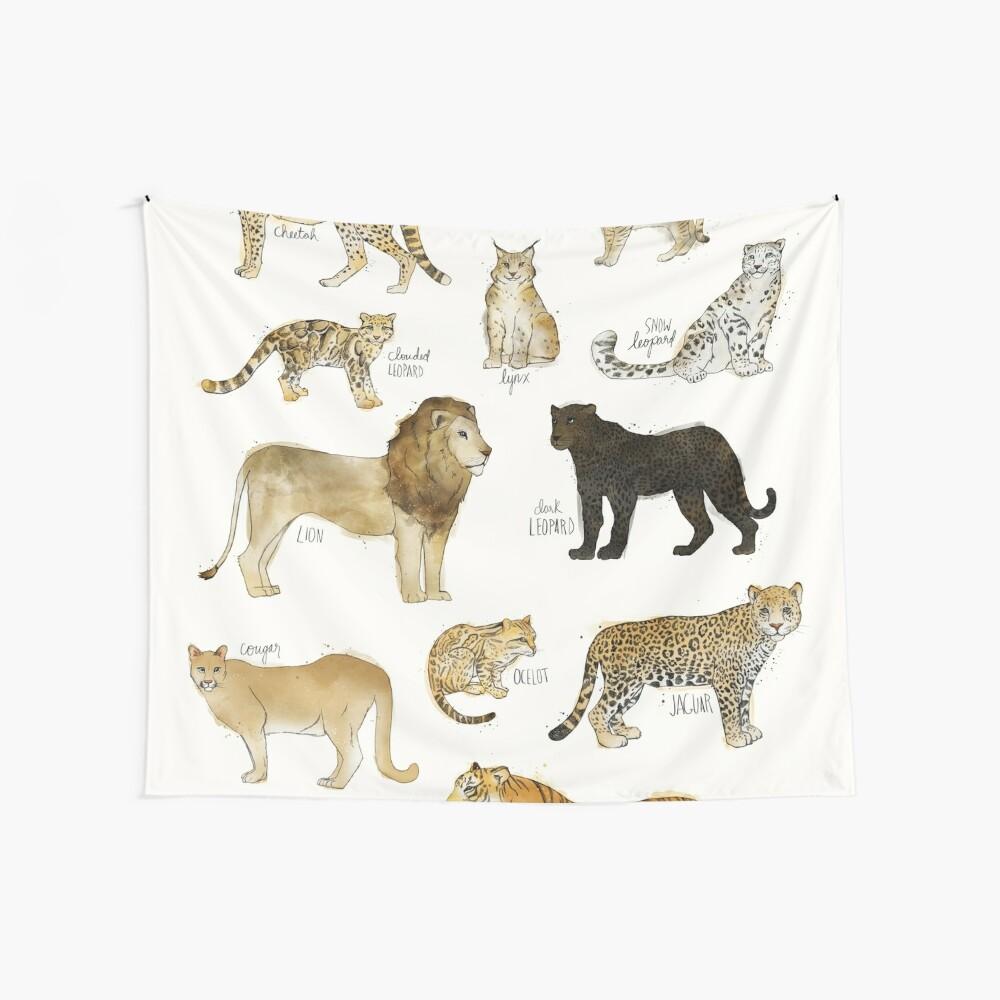 Wilde Katzen Wandbehang