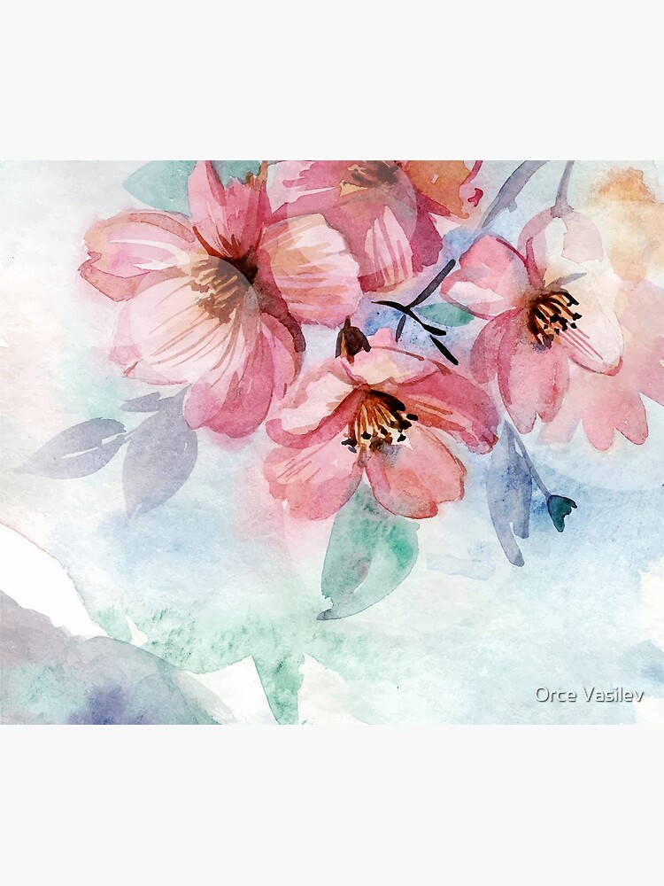 Watercolor Flowers by Orce