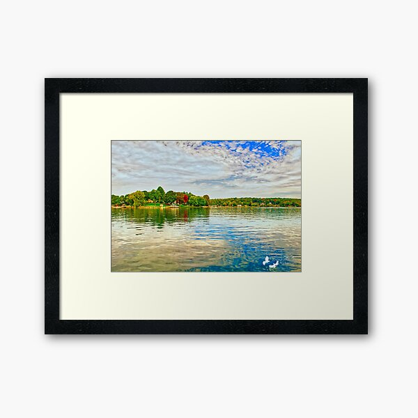 CANDLEWOOD LAKE in Connecticut Framed Art Print