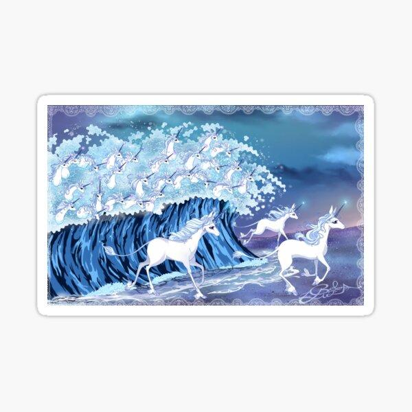 Unicorns in the Sea Sticker