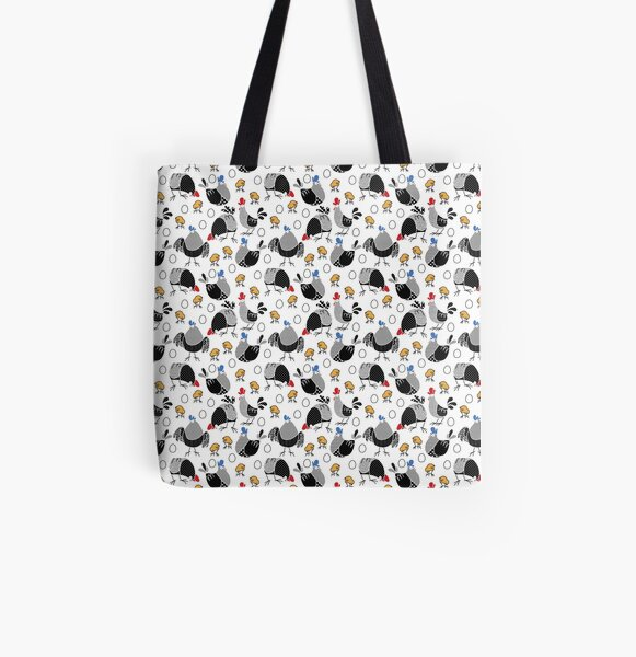 Crazy chickens All Over Print Tote Bag