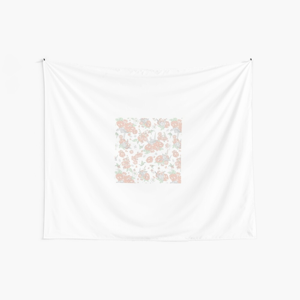 Origami Floral Wall Tapestry