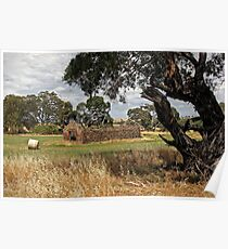 Barn and Bale in Hindmarsh Vale Poster
