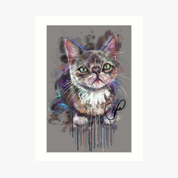 Project Caturday - Smushie the Cat Art Print