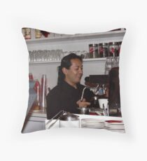 Happy Barrista Throw Pillow