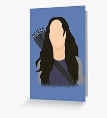 Vector Katniss Greeting Card