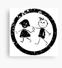 Beautiful kids stamp Canvas Print
