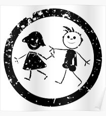 Beautiful kids stamp Poster