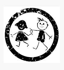 Beautiful kids stamp Photographic Print