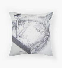 Dustpan Garden Throw Pillow