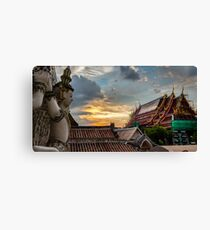 Color To My Sunset Canvas Print