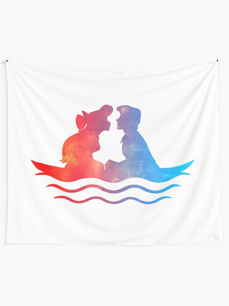 Alternate view of Boat Ride Kiss Tapestry