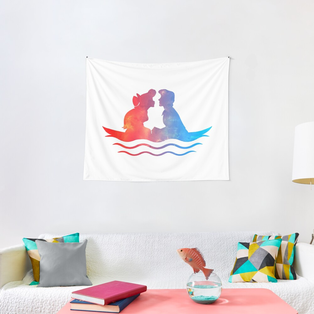 Boat Ride Kiss Tapestry