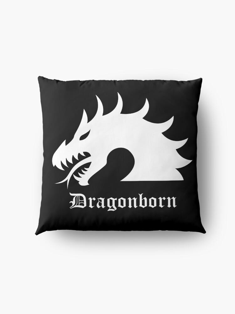 Alternate view of Dragonborn Fantasy Floor Pillow