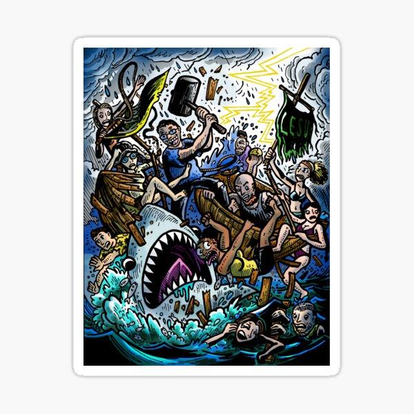 """Total Effing Chaos"" Episode 9 : Survivor Edge of Extinction Comic Sticker"