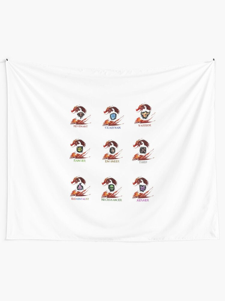 Guild Wars 2 - Classes | Wall Tapestry