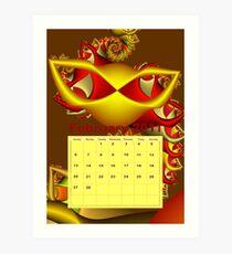 calendar 2011: February Art Print