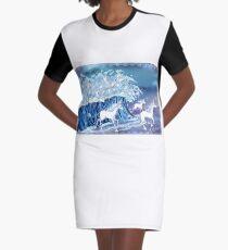 Unicorns in the Sea Graphic T-Shirt Dress