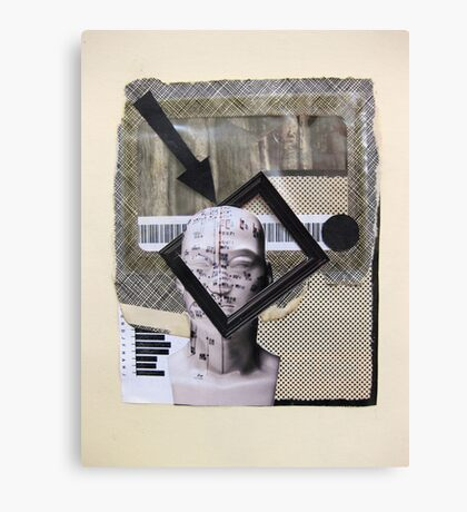 Boxes, barcode and brains...graphic frame of mind Canvas Print