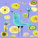 Little Blue Bird by MerryCox-Art