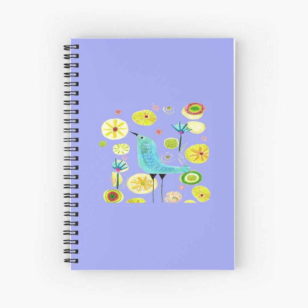 Little Blue Bird Spiral Notebook
