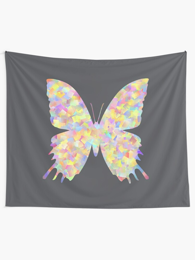 Alternate view of Pastel Motley Butterfly Tapestry