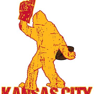 BIGFOOT IS YETI TO CHEER FOR KANSAS CITY FOOTBALL - SASQUATCH LOGO IN YOUR FAVORITE TEAMS COLORS by NotYourDesign