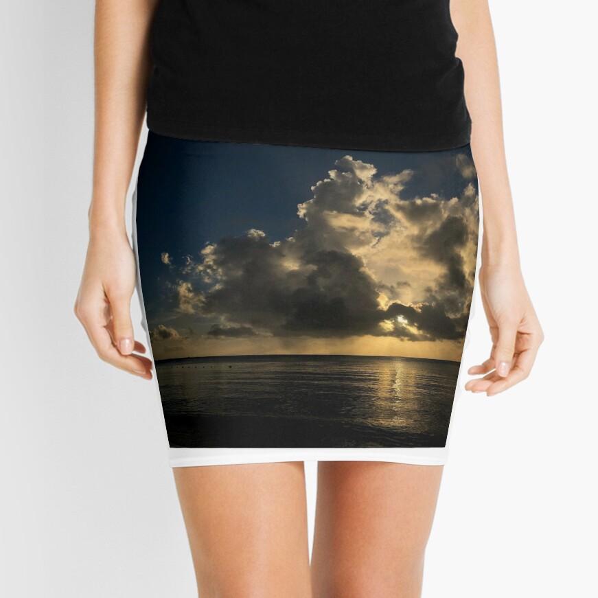 Reflection sunset Mini Skirt