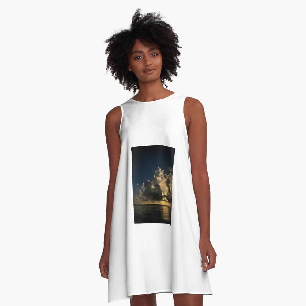 Reflection sunset A-Line Dress
