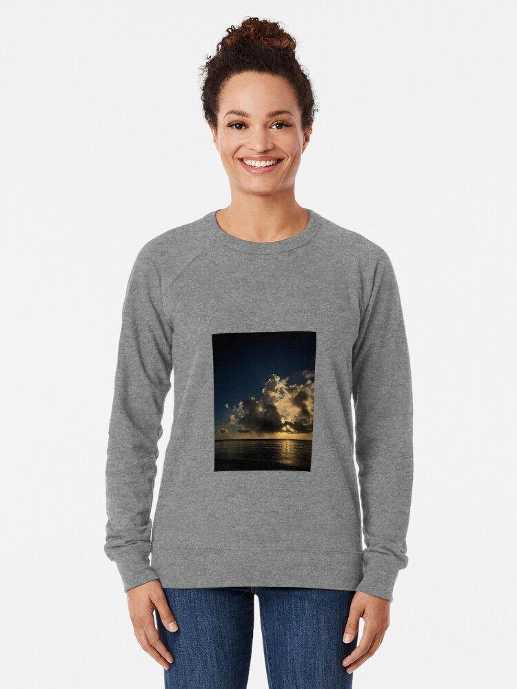 Alternate view of Reflection sunset Lightweight Sweatshirt