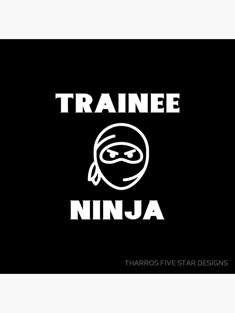 Trainee Ninja Young Boy Girl Karate Student Junior Karateka Quote Phrase von kalamiotis13