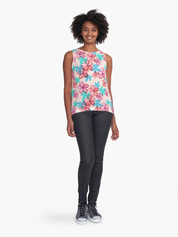 Alternative Ansicht von Bloom ( Blumen pattern) Kontrast Top