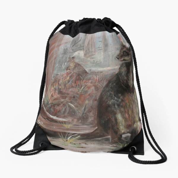 On the Wallaby Track Again. Drawstring Bag