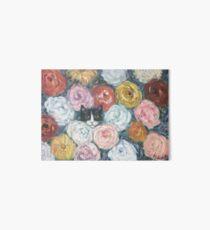 Smokingkatze in Monets Blumen Galeriedruck