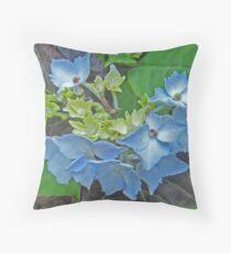 Hydrangea Blossoming Throw Pillow