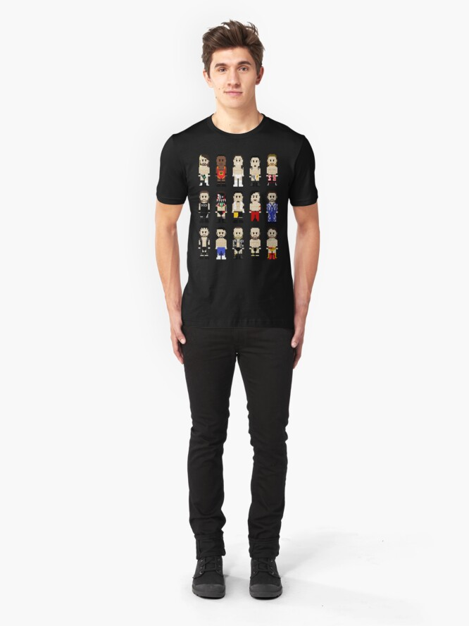 Alternate view of 8-Bit Wrestling: NeXT Champions Slim Fit T-Shirt
