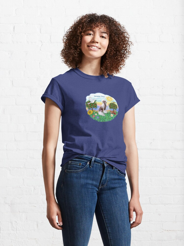 Alternate view of Happy Day with a Chinese Crested (HL) Classic T-Shirt