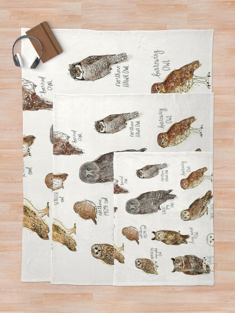 Alternate view of Owls Throw Blanket